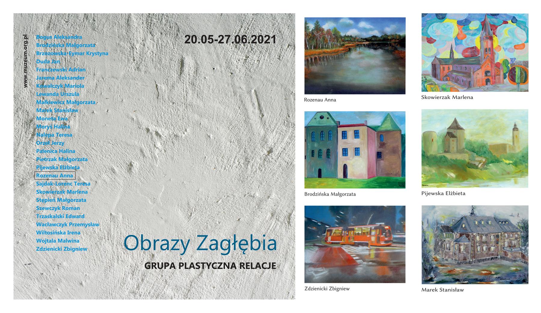 """Wystawa w galerii TwK – Grupa plastyczna Relacje """"Obrazy Zagłębia"""""""